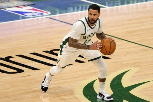 D.J. Augustin #12 of the Milwaukee Bucks handles the ball.  Stacy Revere/Getty Images/AFP
