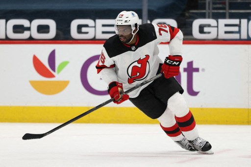 P.K. Subban #76 of the New Jersey Devils skates. Patrick Smith/Getty Images/AFP