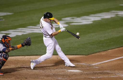 Matt Chapman #26 of the Oakland Athletics on April 01, 2021 in Oakland, California.   Ezra Shaw/Getty Images/AFP