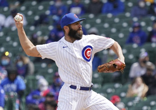 Jake Arrieta #49 of the Chicago Cubs throws a pitch. Nuccio DiNuzzo/Getty Images/AFP