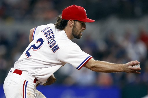 Charlie Culberson #2 of the Texas Rangers. Tom Pennington/Getty Images/AFP