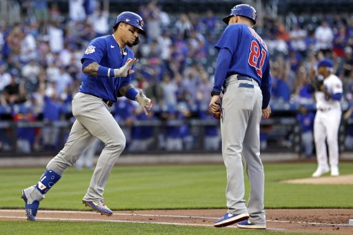 Javier Baez #9 of the Chicago Cubs. Adam Hunger/Getty Images/AFP