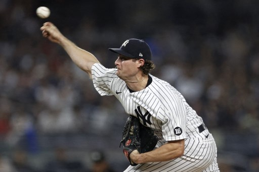 Gerrit Cole #45 of the New York Yankees. Adam Hunger/Getty Images/AFP
