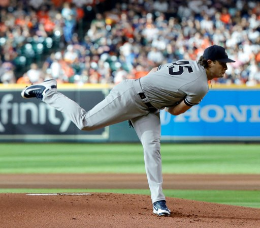 Gerrit Cole #45 of the New York Yankees pitches. Bob Levey/Getty Images/AFP