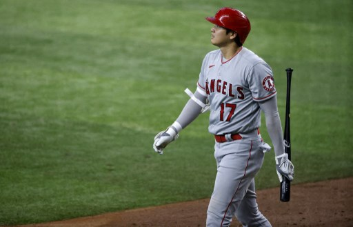 Shohei Ohtani #17 of the Los Angeles Angels. Ron Jenkins/Getty Images/AFP