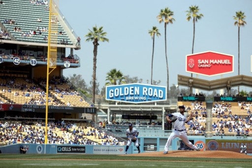 David Price #33 of the Los Angeles Dodgers throws. Ronald Martinez/Getty Images/AFP