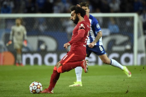 Liverpool's Egyptian forward Mohamed Salah. (Photo by MIGUEL RIOPA / AFP)